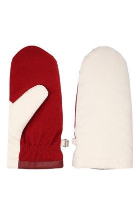 Женские пуховые варежки из кашемира LORO PIANA красного цвета, арт. FAI8761 | Фото 2