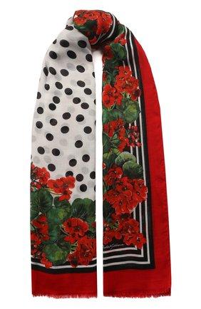 Мужские шарф DOLCE & GABBANA красного цвета, арт. FS184A/GDN27 | Фото 1