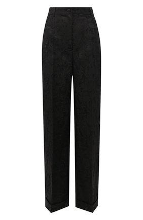 Женские брюки с отворотами DOLCE & GABBANA черного цвета, арт. FTBM0T/FJRDJ | Фото 1
