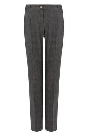 Женские шерстяные брюки DOLCE & GABBANA серого цвета, арт. FTAH0T/FQBBK | Фото 1