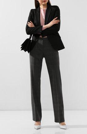 Женские шерстяные брюки DOLCE & GABBANA серого цвета, арт. FTAH0T/FQBBK | Фото 2