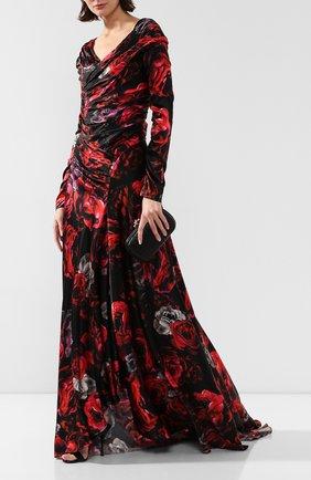 Женское шелковое платье DOLCE & GABBANA бордового цвета, арт. F6G5AT/GVD40 | Фото 2