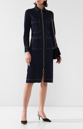 Женское джинсовое платье 3X1 синего цвета, арт. WD0020986/DILL0N | Фото 2