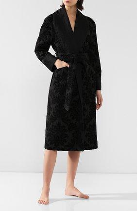 Женский халат с поясом DOLCE & GABBANA черного цвета, арт. F0Y65T/HJMHK | Фото 2