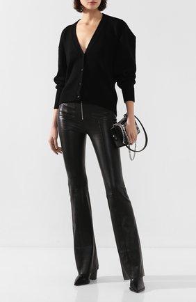 Женские кожаные брюки SPRWMN черного цвета, арт. FLR-025-L/PATCH PKT SPR FLARE 34 INSEAM | Фото 2
