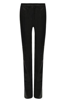 Женские кожаные брюки SPRWMN черного цвета, арт. BTM-007-L/TAIL0RED PANT SATEEN TUX | Фото 1
