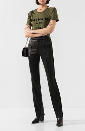 Женские кожаные брюки SPRWMN черного цвета, арт. BTM-007-L/TAIL0RED PANT SATEEN TUX | Фото 2