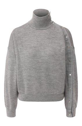 Женская шерстяной свитер ALEXANDERWANG.T серого цвета, арт. 4KC1201053 | Фото 1
