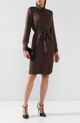 Женское платье с поясом TOM FORD хаки цвета, арт. AB2787-FAX180 | Фото 2