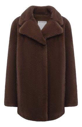 Женская шуба из меха норки COLOR TEMPERATURE коричневого цвета, арт. 19ct1006 | Фото 1