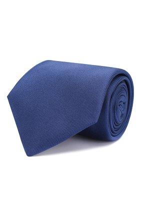 Мужской шелковый галстук LUIGI BORRELLI синего цвета, арт. LC80-B/TT8645 | Фото 1