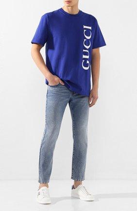 Мужские джинсы GUCCI синего цвета, арт. 600156/XDAX5 | Фото 2