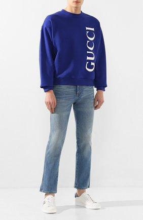 Мужские джинсы GUCCI синего цвета, арт. 599944/XDA1B | Фото 2