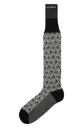 Мужские носки DOLCE & GABBANA черно-белого цвета, арт. GC126A/G1JDN | Фото 1