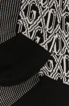 Мужские носки DOLCE & GABBANA черно-белого цвета, арт. GC126A/G1JDN | Фото 2
