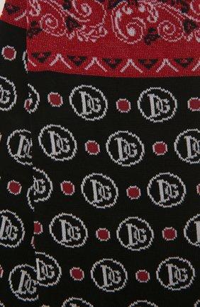 Мужские носки DOLCE & GABBANA черного цвета, арт. GC126A/G1JD0 | Фото 2