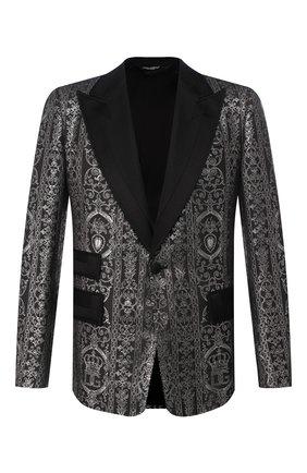 Мужской пиджак DOLCE & GABBANA черного цвета, арт. G2MQ2T/HJMFK | Фото 1