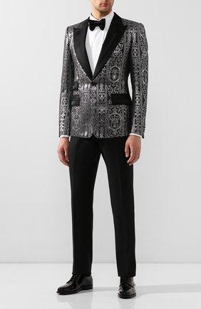 Мужской пиджак DOLCE & GABBANA черного цвета, арт. G2MQ2T/HJMFK | Фото 2