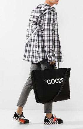 Мужская сумка-шопер OFF-WHITE черного цвета, арт. 0MNA054R205210381001 | Фото 2