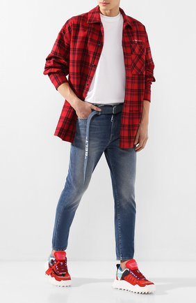 Мужские джинсы OFF-WHITE синего цвета, арт. 0MYA005R20G660278701 | Фото 2