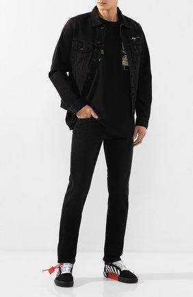 Мужские джинсы OFF-WHITE черного цвета, арт. 0MYA011R20E540181001 | Фото 2