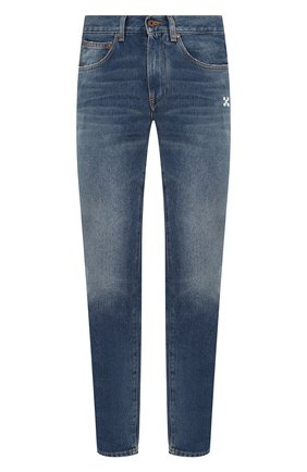 Мужские джинсы OFF-WHITE синего цвета, арт. 0MYA011R20G660188701 | Фото 1