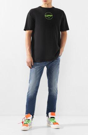 Мужские джинсы OFF-WHITE синего цвета, арт. 0MYA058R20G940278701 | Фото 2