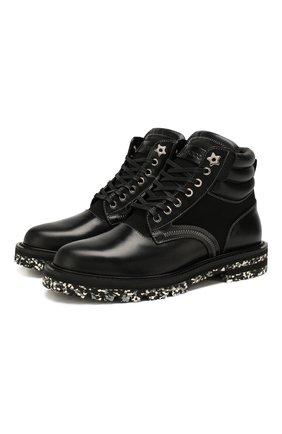 Мужские комбинированные ботинки odin JIMMY CHOO черного цвета, арт. 0DIN/UUY | Фото 1