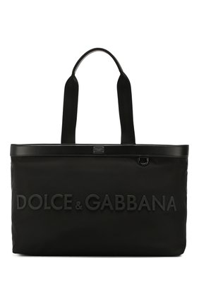 Мужская сумка-шопер street DOLCE & GABBANA черного цвета, арт. BM1767/AZ675 | Фото 1