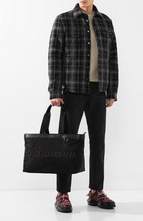 Мужская сумка-шопер street DOLCE & GABBANA черного цвета, арт. BM1767/AZ675 | Фото 2