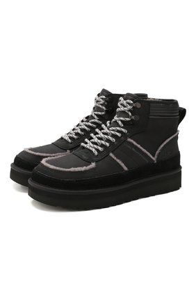 Мужские кожаные ботинки ugg x white mountaineering highland sport UGG черного цвета, арт. 1108649_BLK | Фото 1