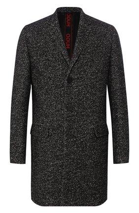 Пальто из смеси шерсти и хлопка   Фото №1