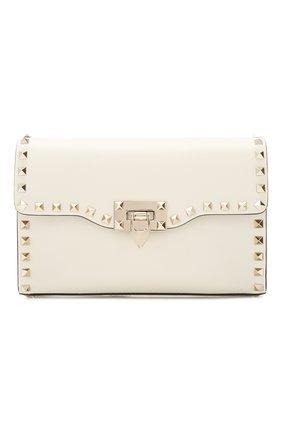 Женская сумка valentino garavani rockstud medium VALENTINO белого цвета, арт. TW2B0181/B0L | Фото 1