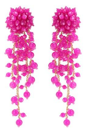 Женские клипсы OSCAR DE LA RENTA розового цвета, арт. R20J194SHP | Фото 1