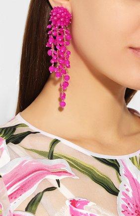 Женские клипсы OSCAR DE LA RENTA розового цвета, арт. R20J194SHP | Фото 2