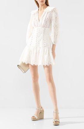 Женские кожаные босоножки valentino garavani rockstud torchon VALENTINO белого цвета, арт. TW2S0K08/EMP | Фото 2