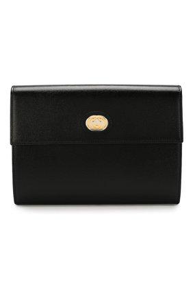 Женские кожаный футляр для документов GUCCI черного цвета, арт. 598546/1DB0X | Фото 1