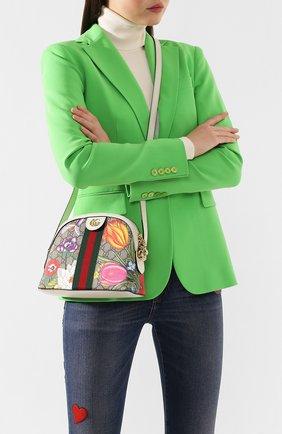 Женская сумка ophidia small GUCCI разноцветного цвета, арт. 499621/HV8AC | Фото 2