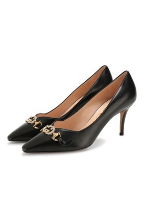Кожаные туфли Gucci Zumi | Фото №1