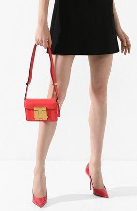 Женская сумка TOM FORD красного цвета, арт. L1261T-LG0009   Фото 2