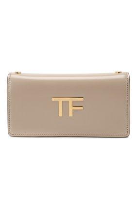 Женская сумка box mini TOM FORD бежевого цвета, арт. S0342T-LCL056   Фото 1