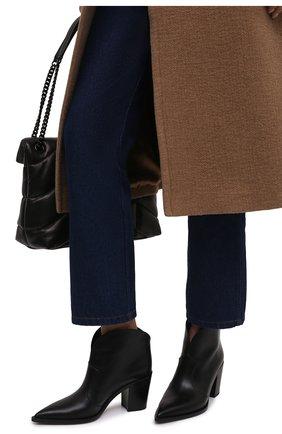 Женские кожаные ботильоны GIANVITO ROSSI черного цвета, арт. G05683.70CU0.VGINER0 | Фото 3 (Каблук высота: Высокий, Средний; Материал внутренний: Натуральная кожа; Каблук тип: Устойчивый; Подошва: Плоская)