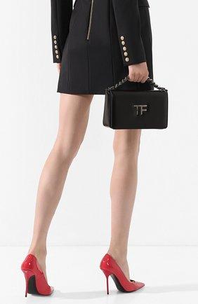 Женская сумка tf chain TOM FORD черного цвета, арт. L1241R-LCL056   Фото 2