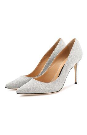 Женская туфли SERGIO ROSSI серебряного цвета, арт. A43843-MMVL11 | Фото 1