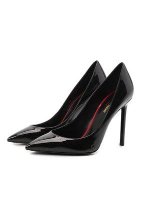 Женская кожаные туфли anja SAINT LAURENT черного цвета, арт. 471988/0NP00 | Фото 1