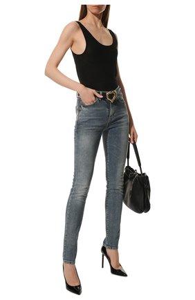 Женская кожаные туфли anja SAINT LAURENT черного цвета, арт. 471988/0NP00 | Фото 2