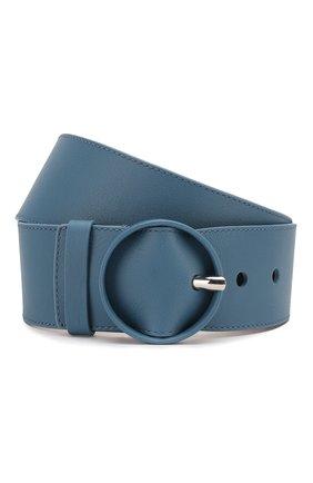 Женский кожаный ремень LORO PIANA голубого цвета, арт. FAL0442 | Фото 1