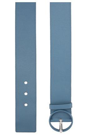 Женский кожаный ремень LORO PIANA голубого цвета, арт. FAL0442 | Фото 2