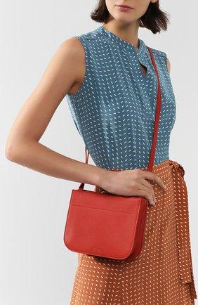 Женская сумка milky way LORO PIANA красного цвета, арт. FAL0084 | Фото 2 (Ремень/цепочка: На ремешке; Материал: Натуральная кожа; Размер: small; Сумки-технические: Сумки через плечо)