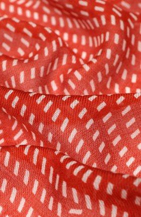 Женский платок rhythmic из смеси кашемира и шелка LORO PIANA красного цвета, арт. FAI9817 | Фото 2